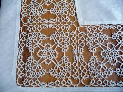 Holy cow that's a lot of tatting work!!! Handmade large tablecloth and 12 napkins with lace by ShopGift, $1880.00