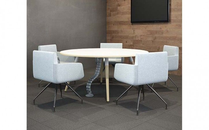 Moment White Circular Meeting Table Tableoffice Meetingsmall