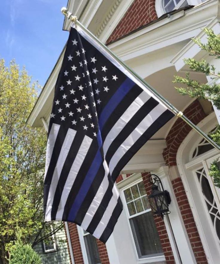 "American ""Thin Blue Line"" Police Flag - ReLEntless Defender Apparel"