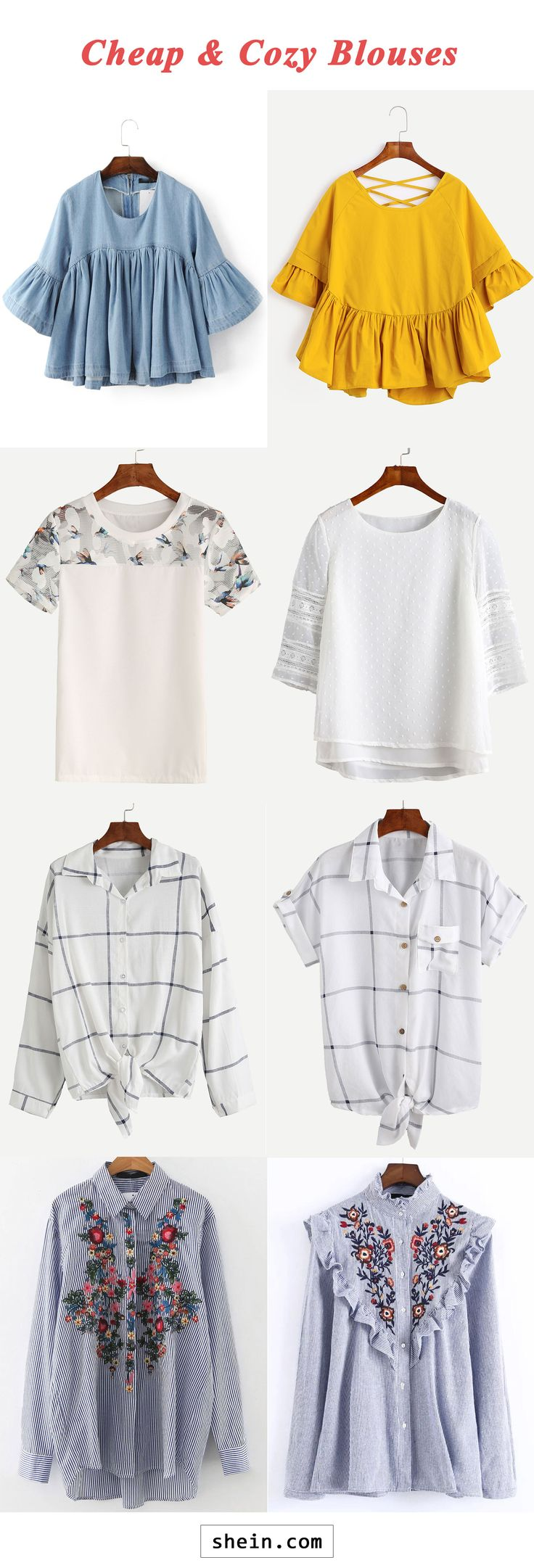 Comfy blouses start at $7!