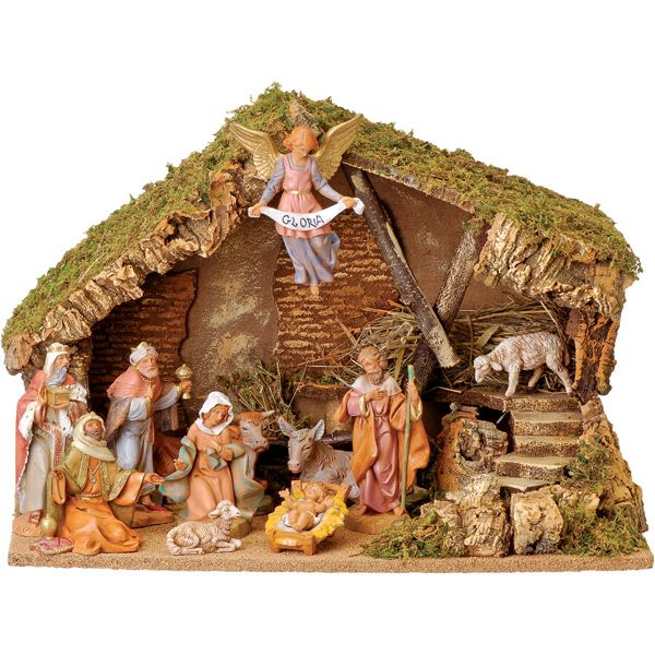 Fontanini Nativity - 11 Piece Set with Stable-Leaflet Missal