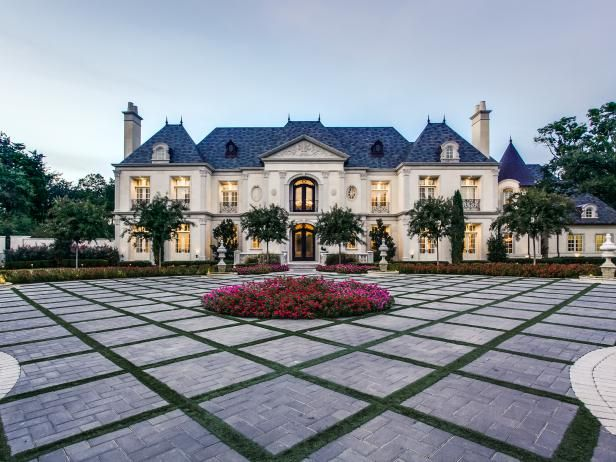Tour a French Chateau-Style Home in Dallas | HGTV.com's Ultimate House Hunt >> http://www.hgtv.com/design/ultimate-house-hunt/2015/curb-appeal/curb-appeal-french-chateau-in-dallas?soc=pinhuhh