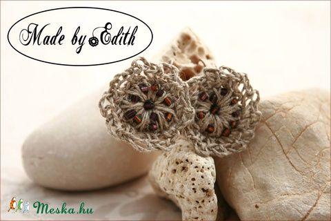 Meska - Horgolt fülbevaló, virág fülbevaló, spárga fülbevaló MadebyEdit kézművestől