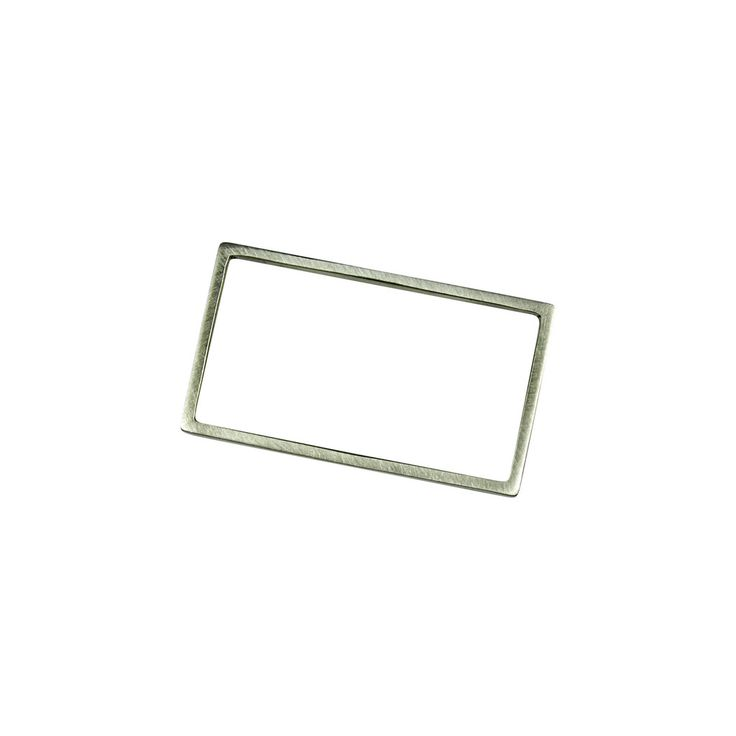 Rectangle Double Finger Ring Silver
