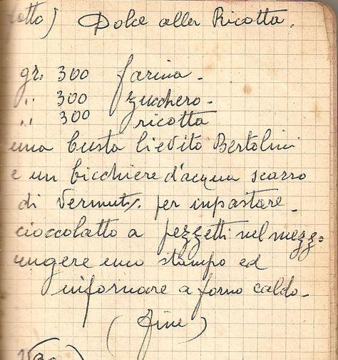 Dolce alla ricotta - Le ricette di Nonna Maria - Antiche ricette siciliane