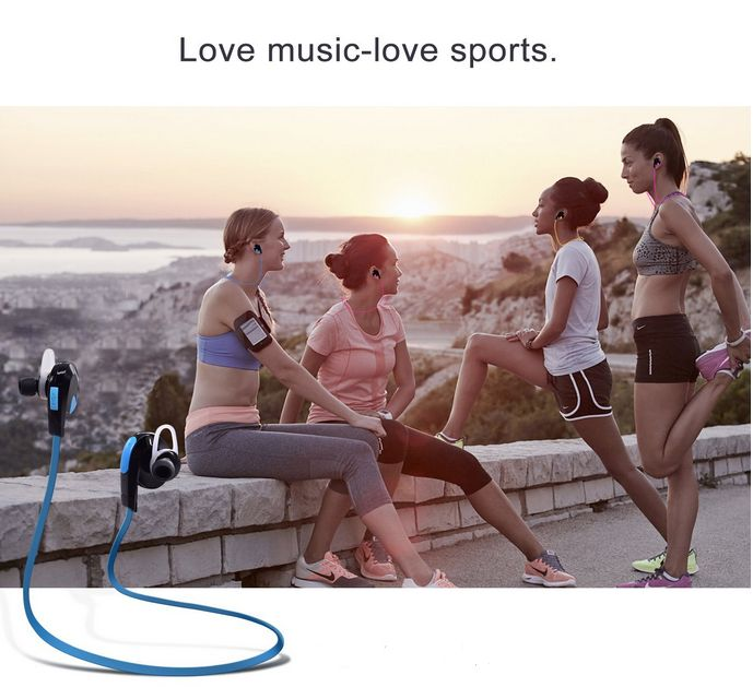 Click to open expanded view      eBerry® Bluetooth 4.1+EDR In-Ear Headphones Wireless Sport Sweatproof Earphones Stereo Headset Supports Noise-Cancellation, Hands-free Calling and SIRI Voice Commands - Blue