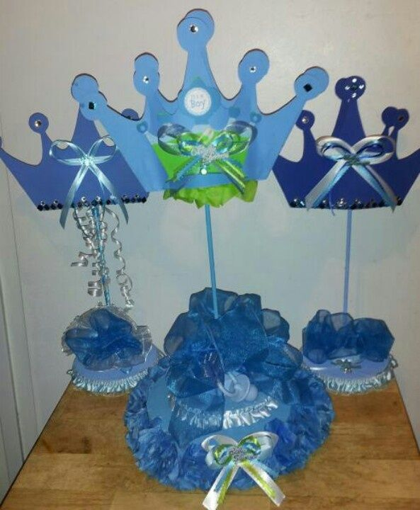 Beautiful Prince Baby Shower Centerpiece | Lil Prince Centerpieces I Made For My ... |