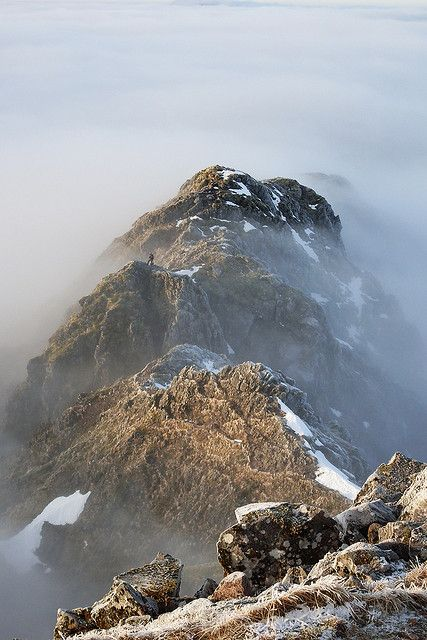 The Aonach Eagach ridge, Glen Coe, Scotland, :-)will tackle this in the summer.