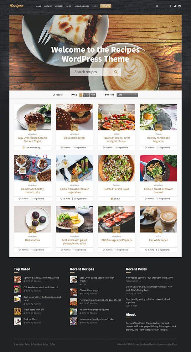 Recipes-WordPress-Theme