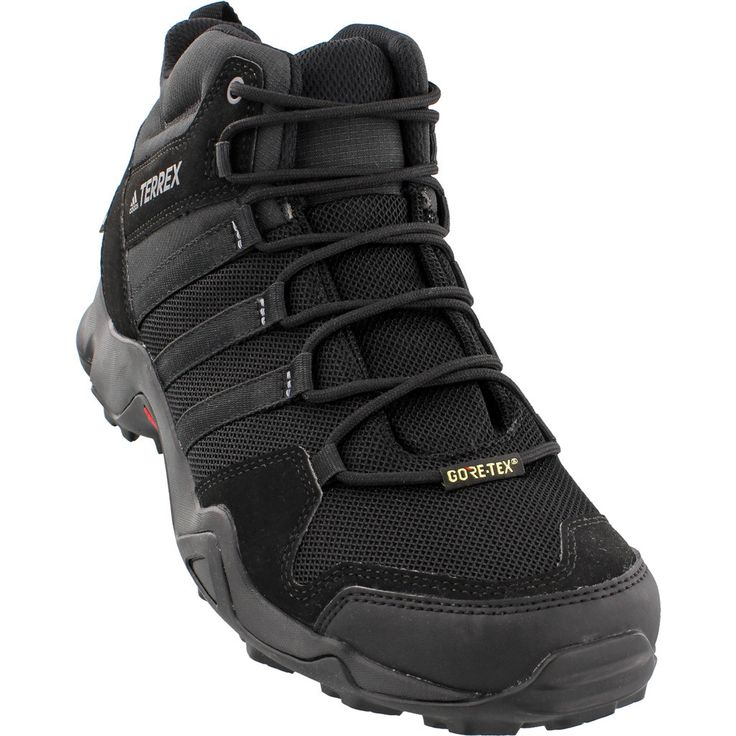 Adidas Terrex Ax2R Mid GTX Shoes | Black/Black/Vista Grey