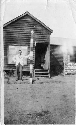 Mr Fee the Margaret River barber in the 1930s  Shire History - Margaret River & Districts Historical Society Inc.