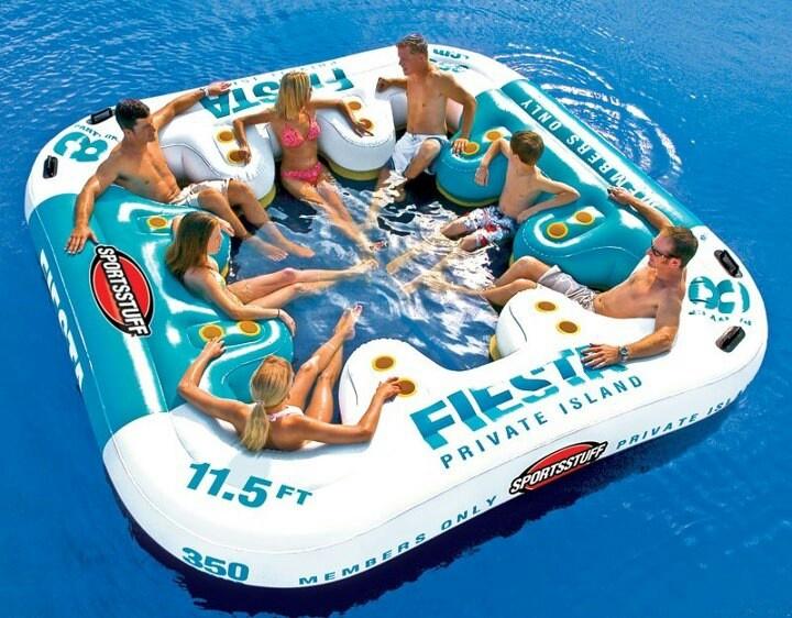 Private Island Inflatable Island Lake Toys Lake Fun