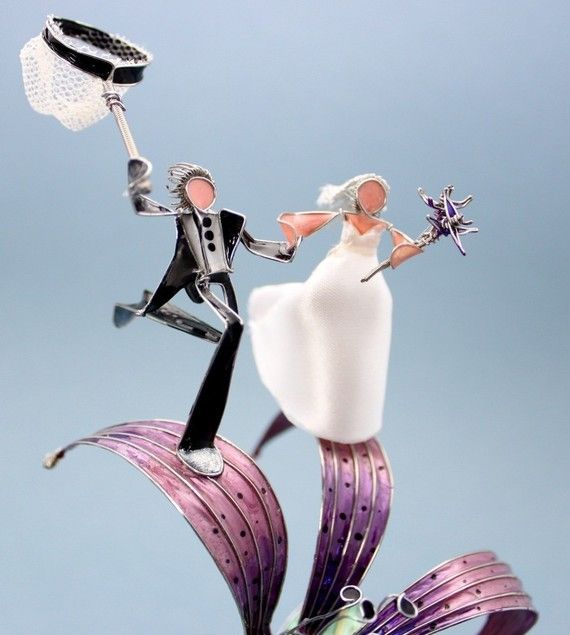 Dragonfly Wedding Cake Topper (Customizable)