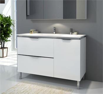 1200 Floor/Wall Hung Vanity -Ceramic/Glass Basin