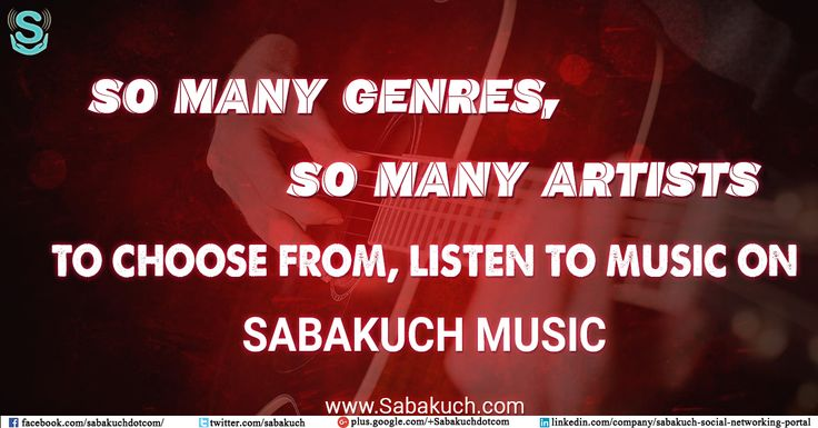 So many #genres, So many #artists to choose from, listen to music on #Sabakuch #Music : https://goo.gl/eQs44o