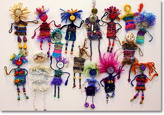 Woven people! Weaving craft suitable for older children.