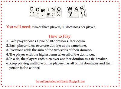Another math game- easily adjustable for multiplication.: Math Fun, Math Center, Math Games, Schools Math, Classroom Freebies, Education Ideas, Free Math, Fun Games, Domino'S War