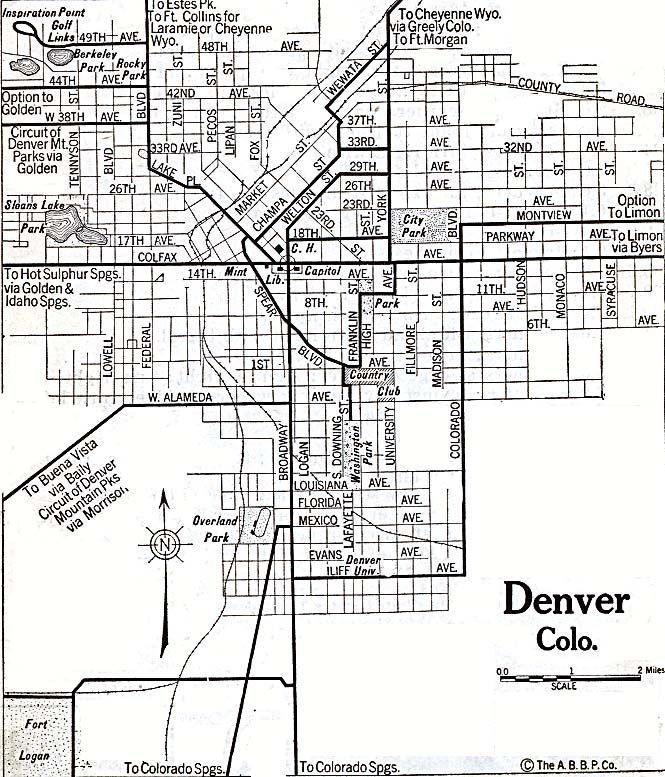 Best Denver Historical Maps Images On Pinterest Denver - Denver colorado in us map