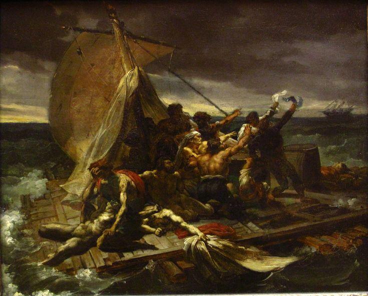Théodore Géricault (Rouen, France, 1791 – Paris, France, 1824) Le Radeau de la Méduse, esquisse, 1816, huile sur toile, Paris, musée du Lo uvre