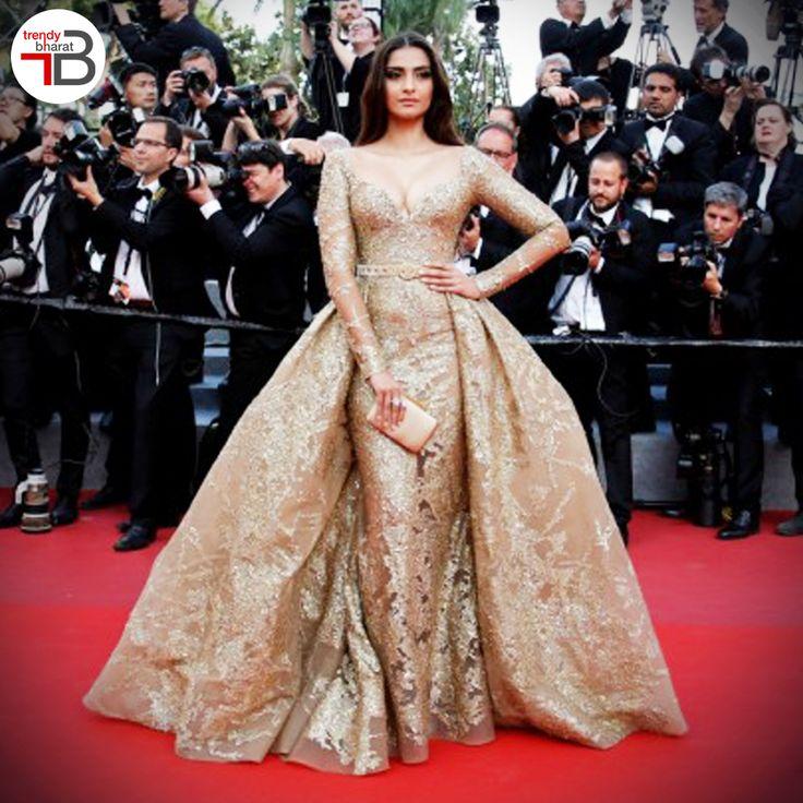 Sonam Kapoor at Cannes 2017.