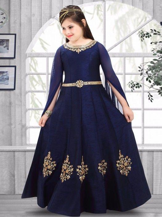 Silk blue attractive party wear gown - G3-GGO00087 | G3fashion.com