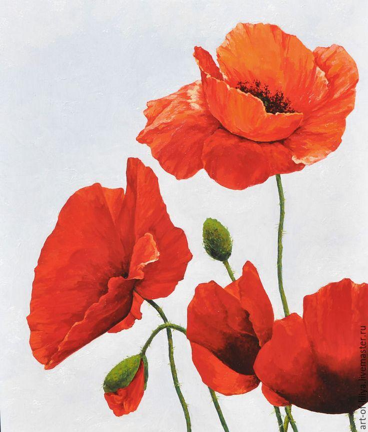 Цветы красными маки купить киев, для невесты