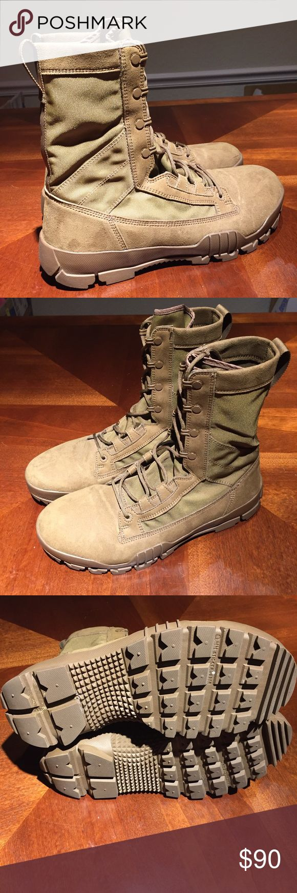 Nike SFB Jungle Boots 10.5 Selling a pair of Nike SFB Jungle Boots as pictured. Have only been worn once and have since been collecting dust in my footlocker.  Inspired by Bill Bowerman's service in the 10th Mountain Division during World War II. Crafted to help keep your feet dry, protected and stable when it matters most; the SFB Jungle Boot is equipped with drainage ports, a puncture-resistant layer, and an aggressive outsole pattern. Nike Shoes Boots