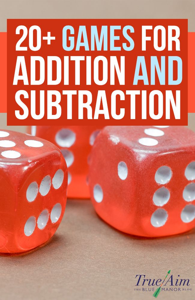 Math Games: 20+ Addition and Subtraction Games for Elementary. This pin has many different games that can be used in a Kindergarten classroom.