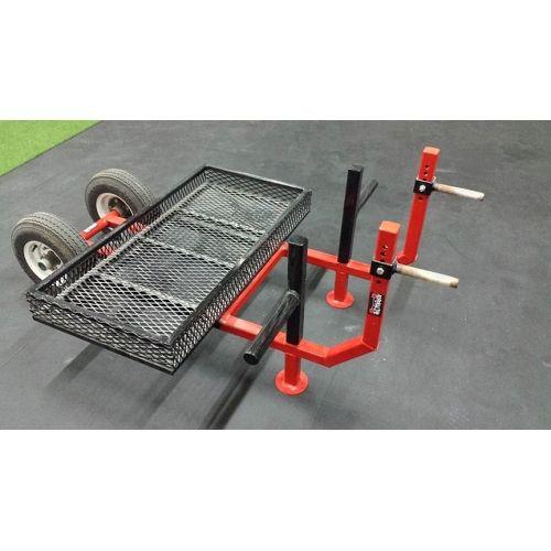 Adrenaline Wheel Barrow. strongman wheel barrow. Can be loaded with kegs and plates. Adjustable knurled handles. #strongman #strongmanwheelbarrow #adrenalineequipment #wheelbarrow