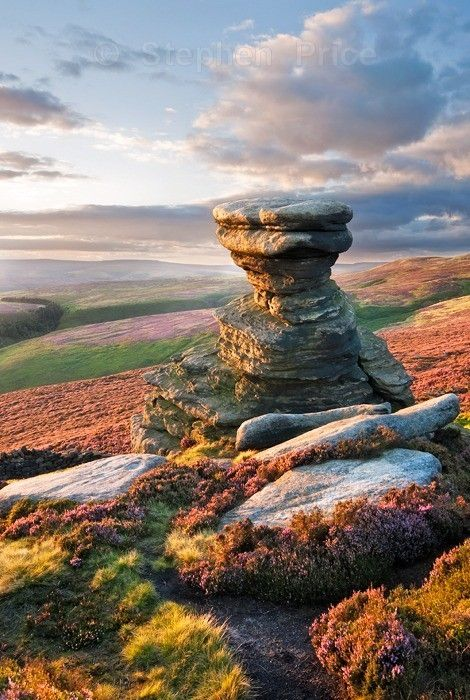 The Salt Cellar, Derwent Edge, Peak District, England by Stephen Price