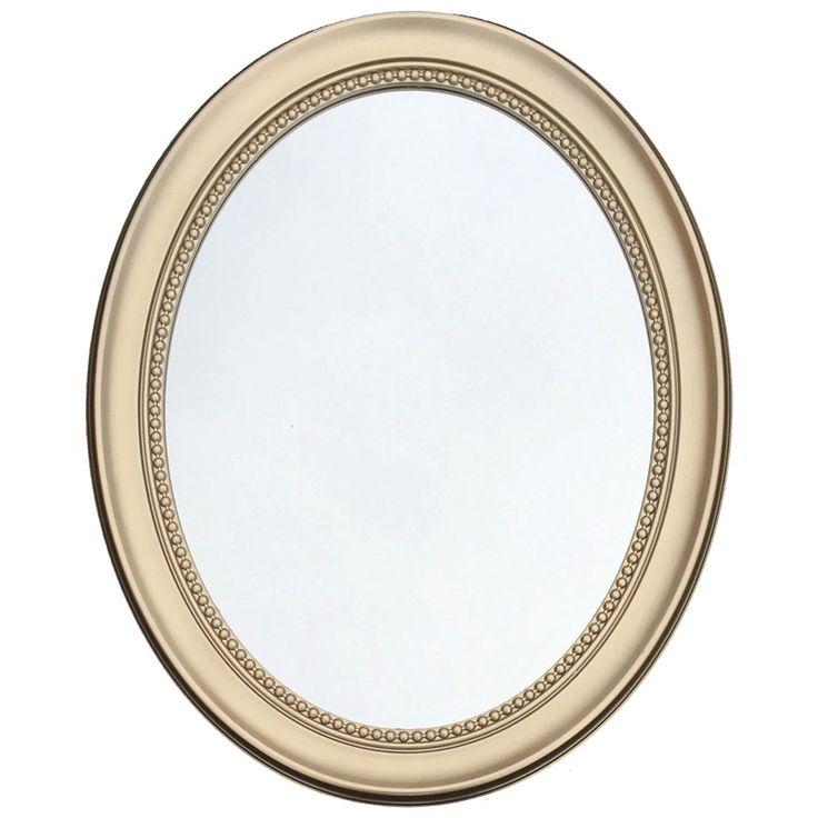 Espejo vintage ovalado en color dorado