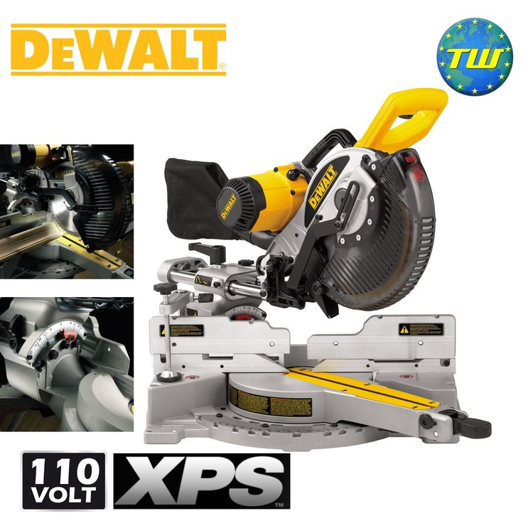 http://www.twwholesale.co.uk/product.php/section/10394/sn/DeWalt-DW717XPS-LX DeWalt DW717XPS 250mm Compound Slide Mitre Saw 110V has a cam action mitre lock function makes mitre setting faster and easier allowing the user to quickly adjust angles between 0-60 degrees left and 0-50 degrees right. While the grooving stop allows the adjustment of the cutting depth for grooving and rebating applications.