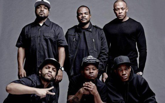 Original NWA members, F.Gary Gray and New cast for Straight Outta Compton