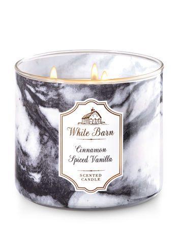 White Barn Cinnamon Ed Vanilla 3 Wick Candles Bath And Body Works