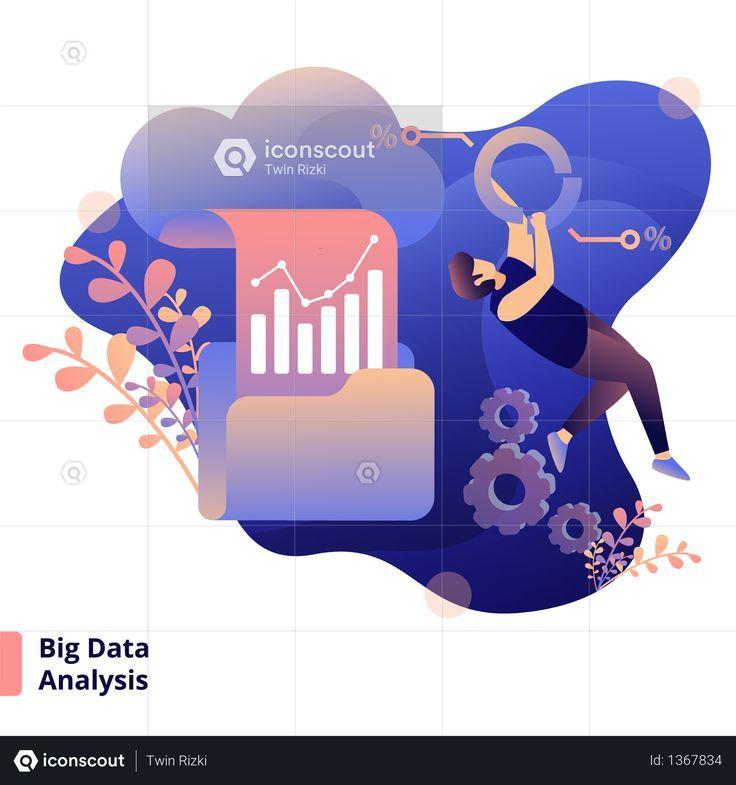 Big Data Analysis New Technology Big Data Data Analysis Business Illustration