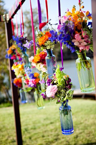 A different decoration idea for a backyard party!