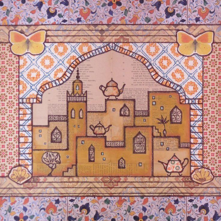 Medina, 2014 Marrakech Mixed media with collage