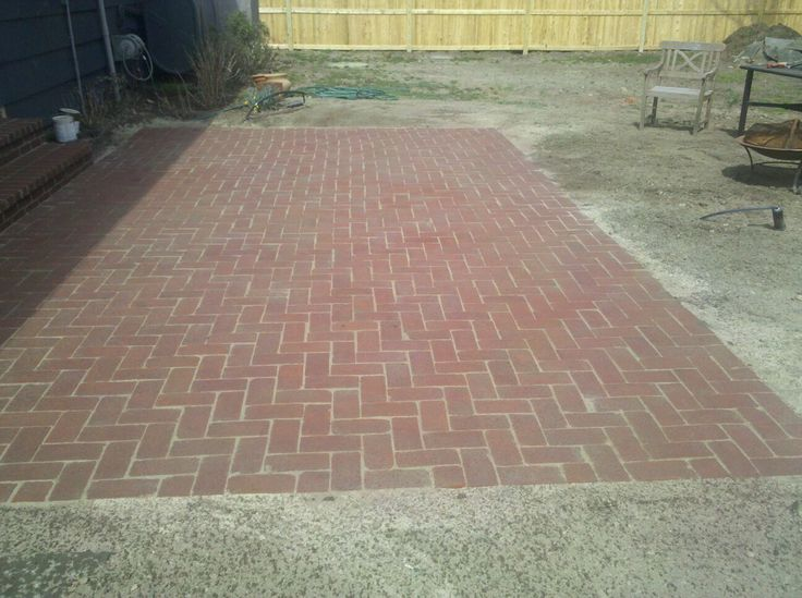 Brick Patio Set In Stone Dust