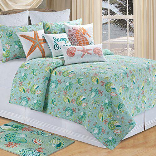 Beach Theme Blanket: 100 Best Beach Themed Bedding Images On Pinterest