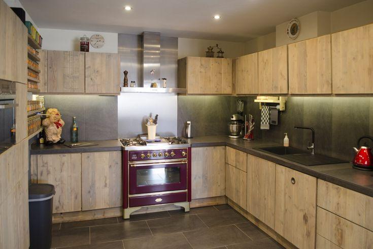 Steigerhouten mooie keuken