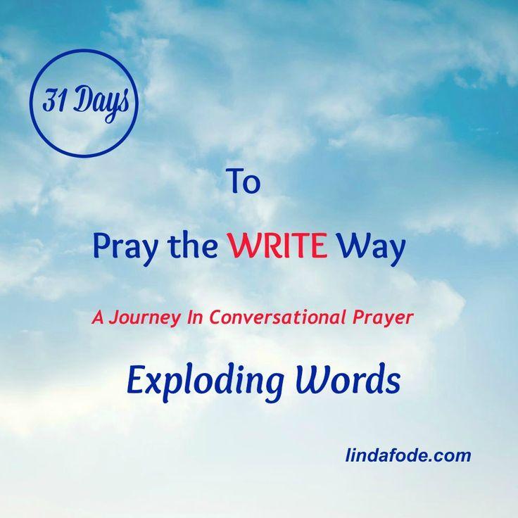 Hear God's Voice Through EXPLODING WORDS.