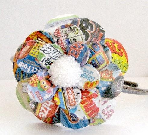 BoardGames Daisy Paper Mache Headband by MaiseysDaiseys on Etsy, $16.00