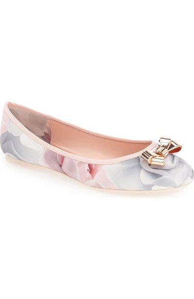 Ted Baker London 'Imme 2' Ballet Flat in Black Patent, Size 8, at #Nordstrom