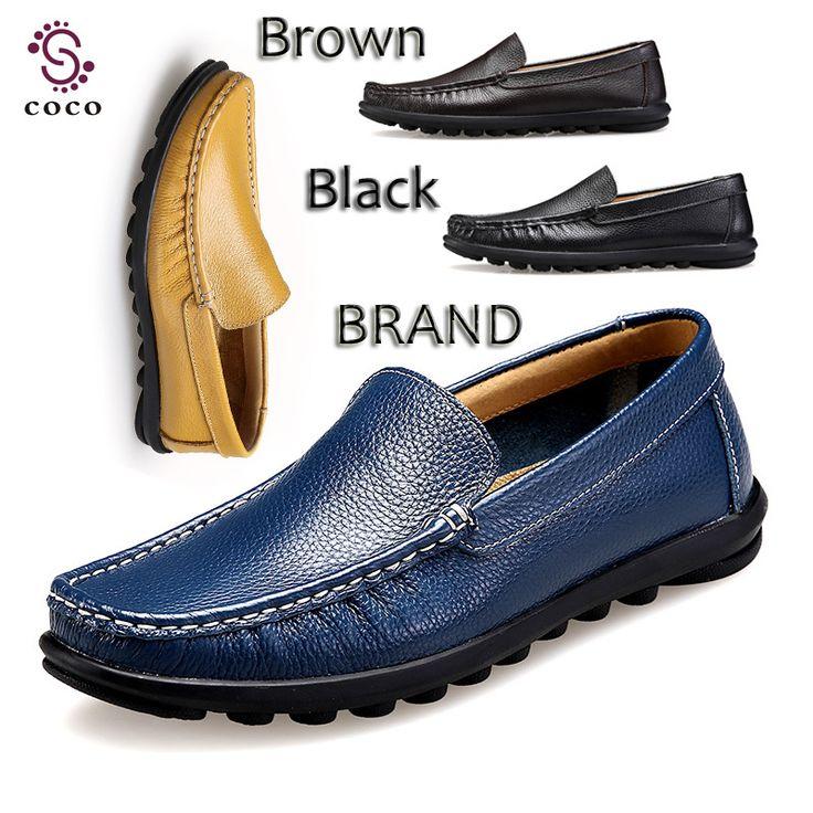 Большой размер 47 чистый натуральная кожа мужчины обувь мокасины минималистский дизайн туфли-марка мягкие дышащей удобные ботинки