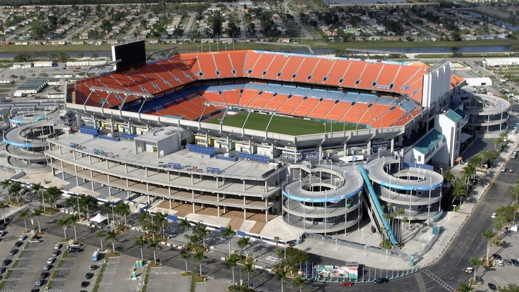 Sun Life Stadium in Miami. Went to away game with the Ravens Roost 3 days after having my gall bladder removed. Only win for the Dolphins that year and I sat in misery and watched my Ravens lose on the last play of the game :(