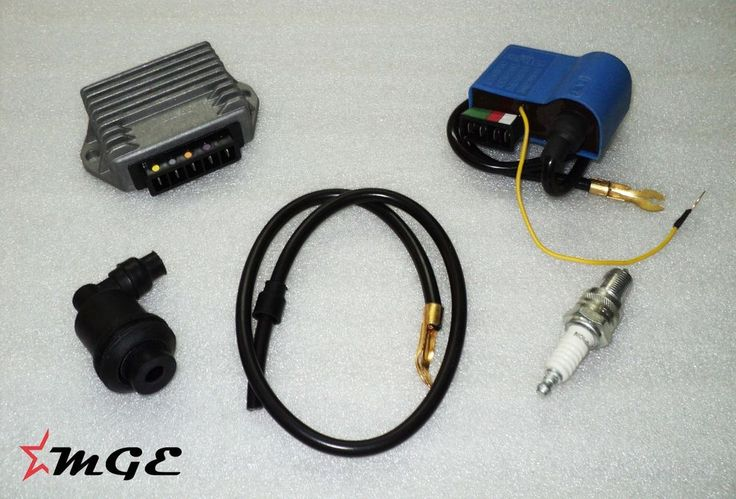 This kit is ideal for PX LML  Scooter Models.   This is a 12 Volt Electronic Kit Containing following items :     1. Regulator 5 Pin ( 12 Volt - 80 Watt )     2. Ignition Coil / CDI Unit     3. Spark Plug Lead   4. Spark Plug  5. Spark Plug Cap