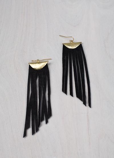 Suede fringe earrings