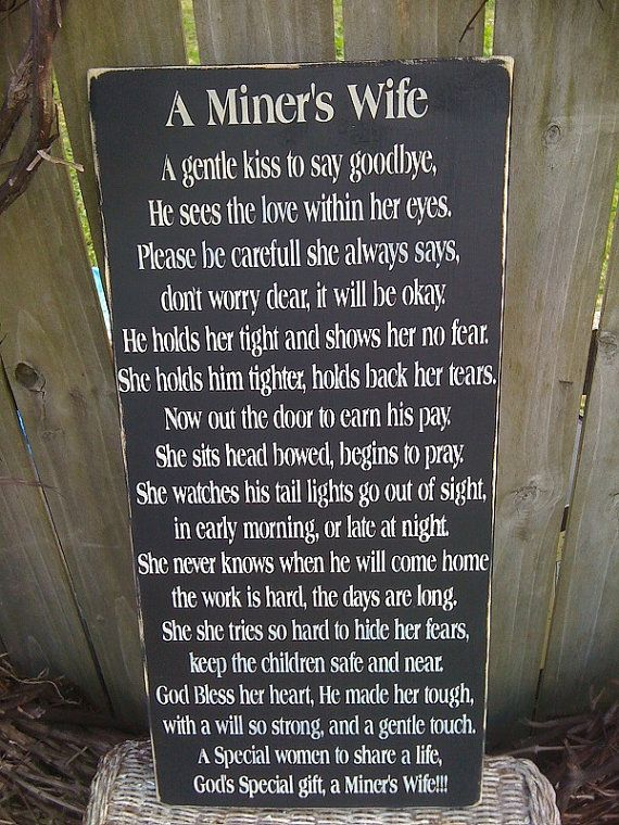 Coal Miner Prayer  A Miner's Wife  by DebsCandlesandDreams on Etsy, $24.95