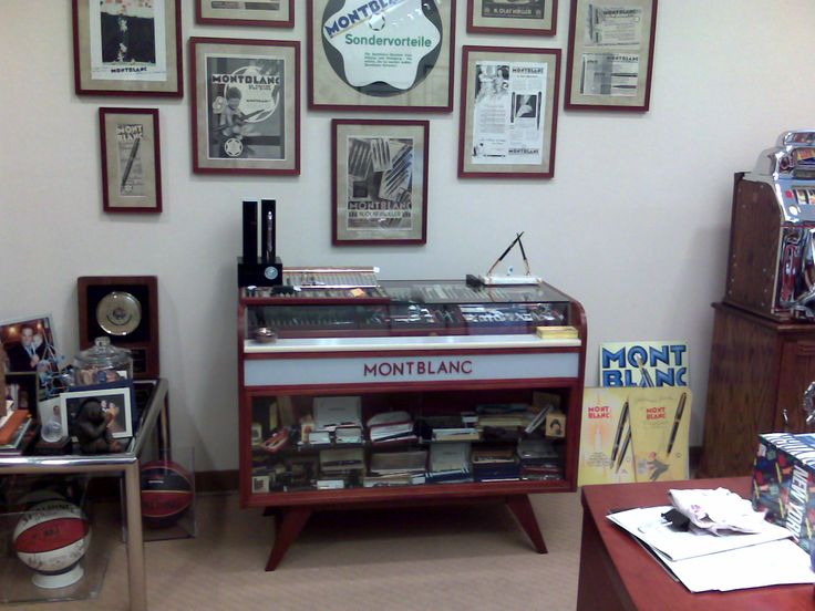 Some times my office feels like a Montblanc store....