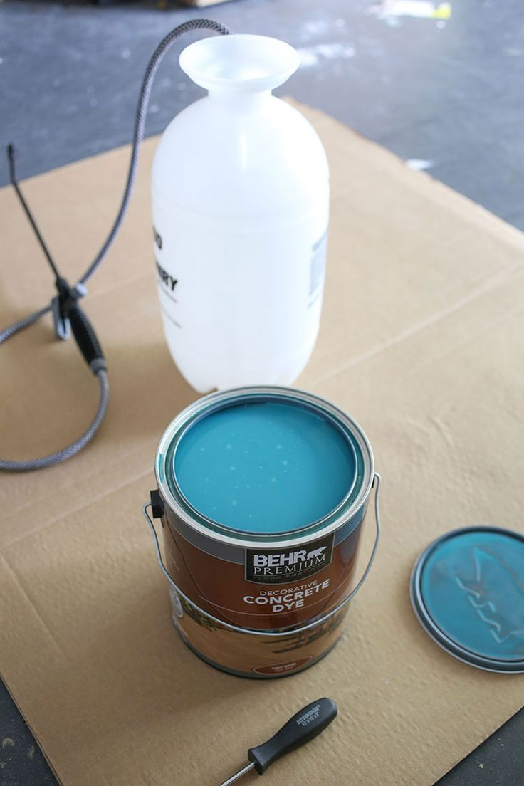 Behr Concrete Dye and sprayer